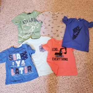 Boys summer T-Shirt lot 4t polo carters nike
